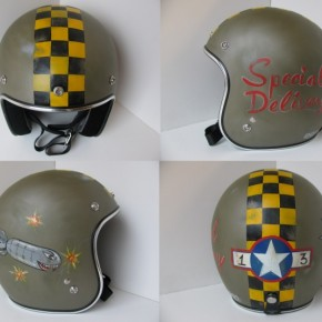 4specialdelivery 290x290 - Distressed Helmets by Old School Helmets