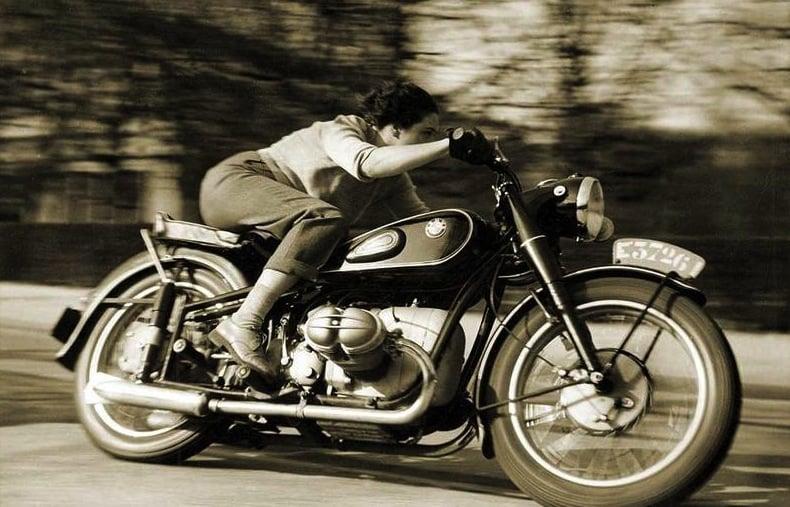 bmw motorcycle woman motorbike