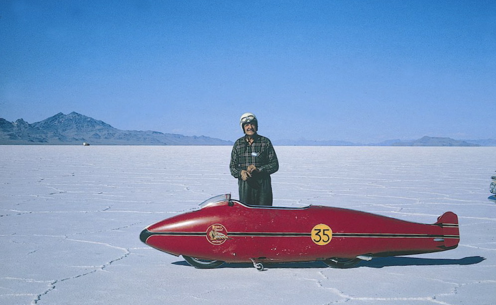 burt munro on the salt 7756201 Burt Munro at Home