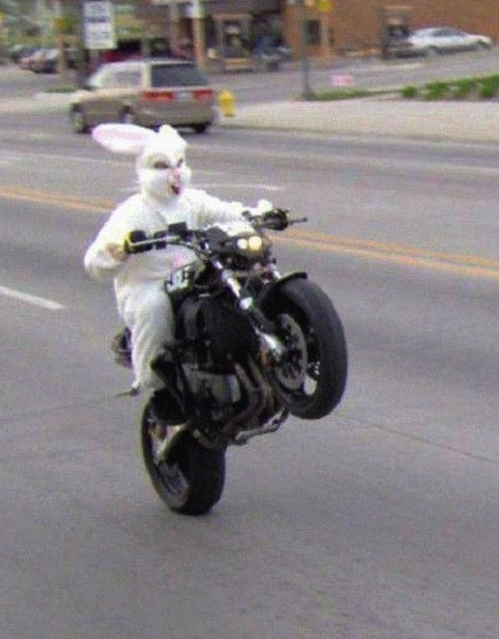 Easter Bunny Motorcycle