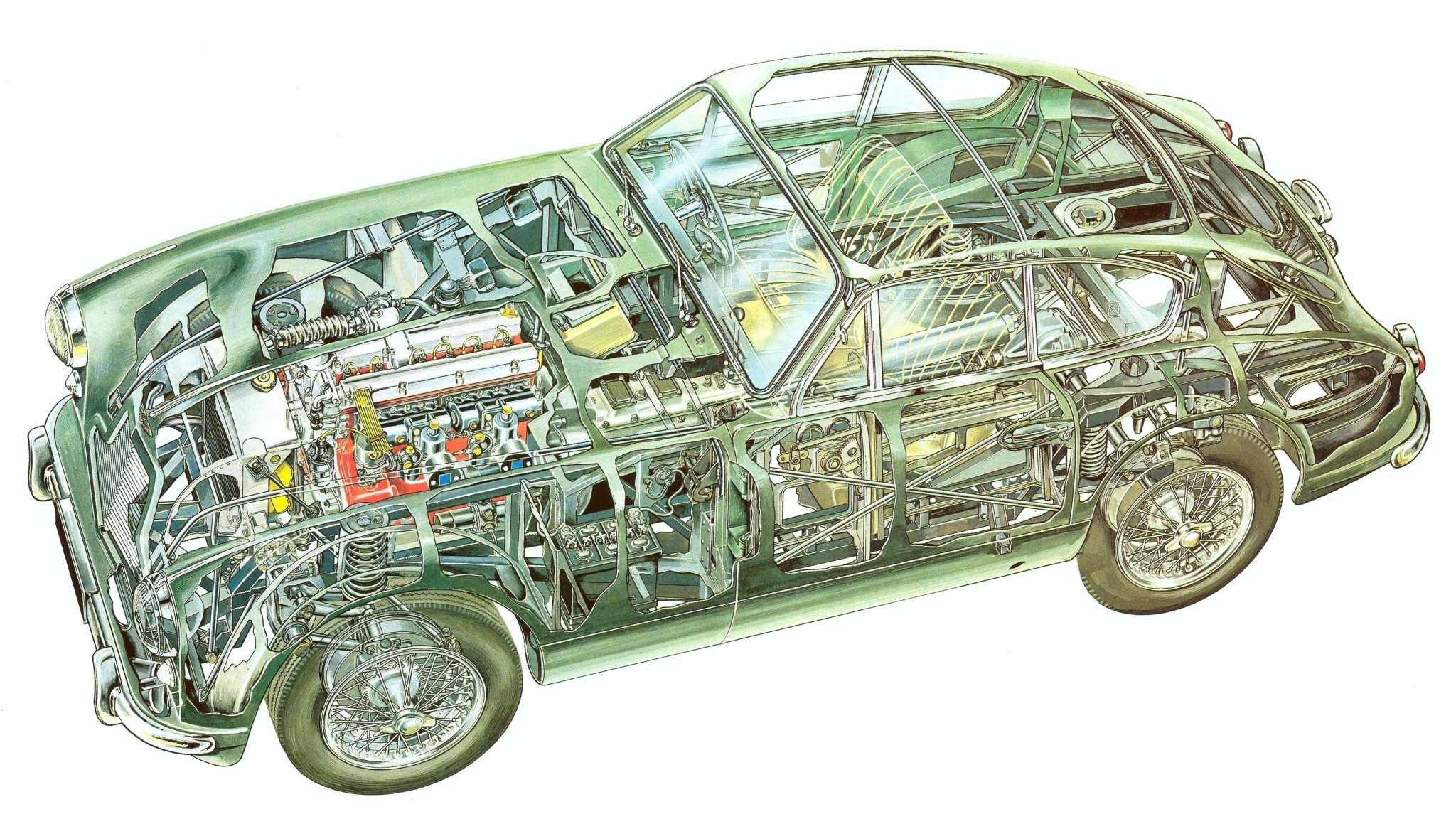 astonmartindb2db24kopie Aston Martin DB2 Cutaway
