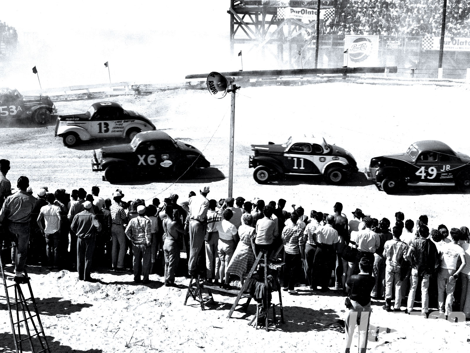 Vintage NASCAR Crash
