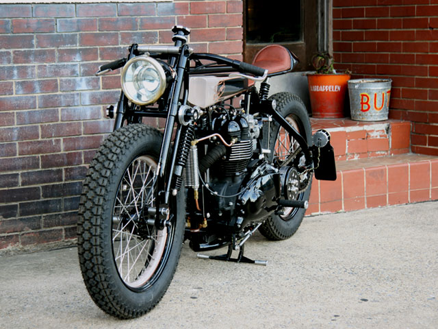tt deluxe pic6 Triumph TT Deluxe Café Racer by LC Fabrications
