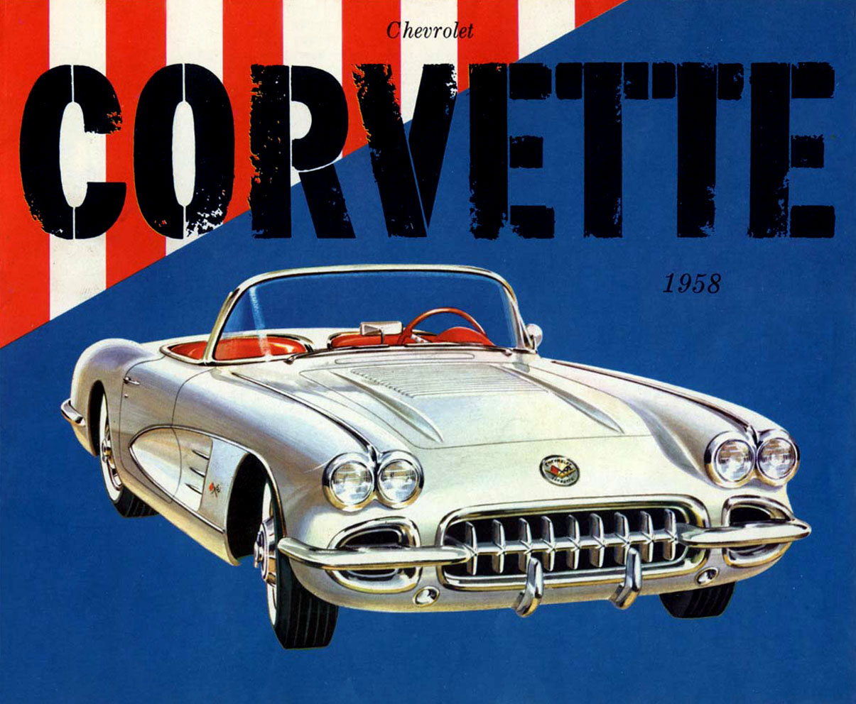 Vintage Corvette Poster - (SILODROME)