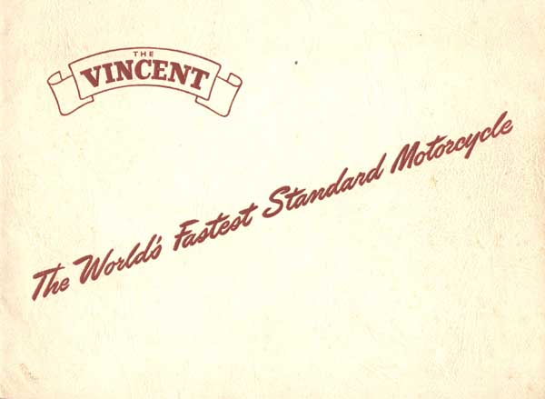 Vincent Motorcycles Brochure Cover