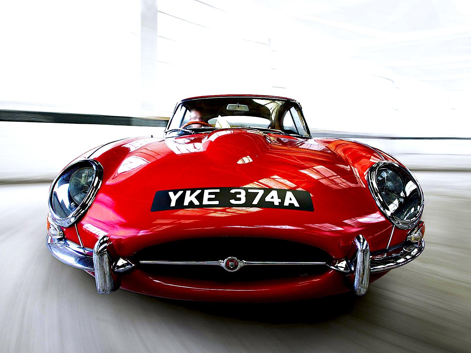 Candy Apple Red Jaguar E-Type