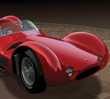 Red Birdcage fs1 367x330 - Maserati Tipo 61 Birdcage Illustration by MotoPsycoArt