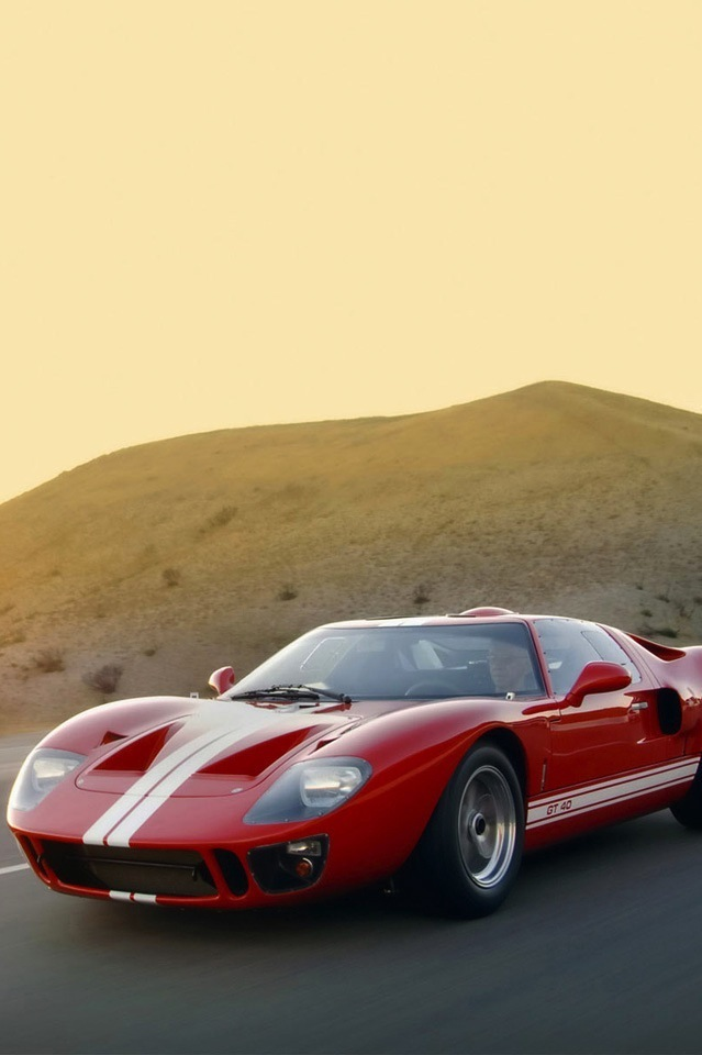 Silodrome Ford GT 40 iPhone 4 Wallpaper
