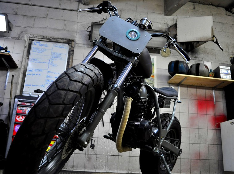 TW125 Edwin face Stealth by Blitz Motorcycles