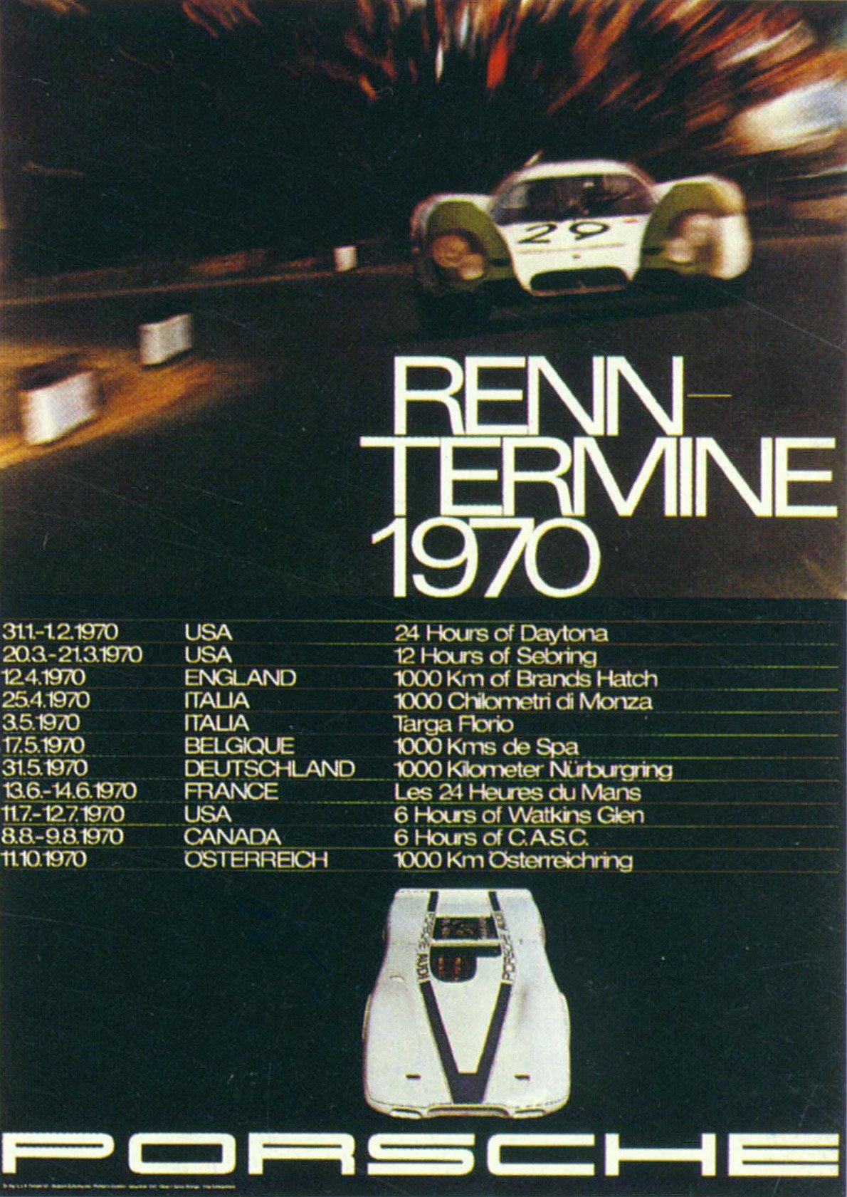 Porsche 917 Le Mans Poster