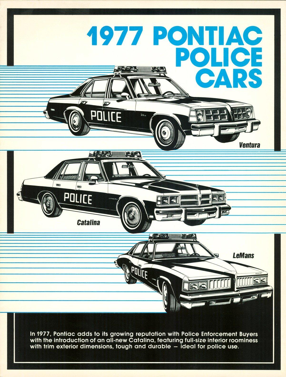 1977 Pontiac Police Cars