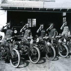 Motorcycle Police Stunts Circa 1918