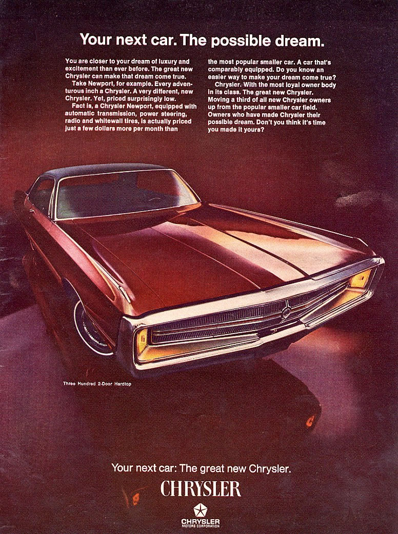 The '69 Chrysler Newport has