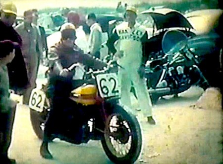 Motorcycle Racing On Daytona Beach 1949 450x330 - Motorcycle Racing On Daytona Beach - 1949