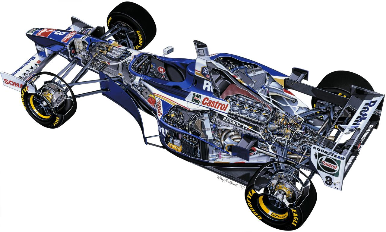 Williams Renault FW19 Cutaway