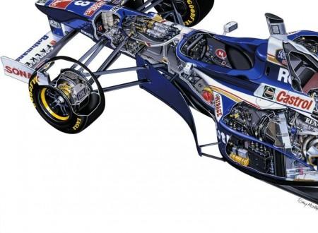 Williams Renault FW19 Cutaway1 450x330 - Williams Renault FW19 Cutaway