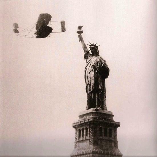 wilbur wright NY statue liberty