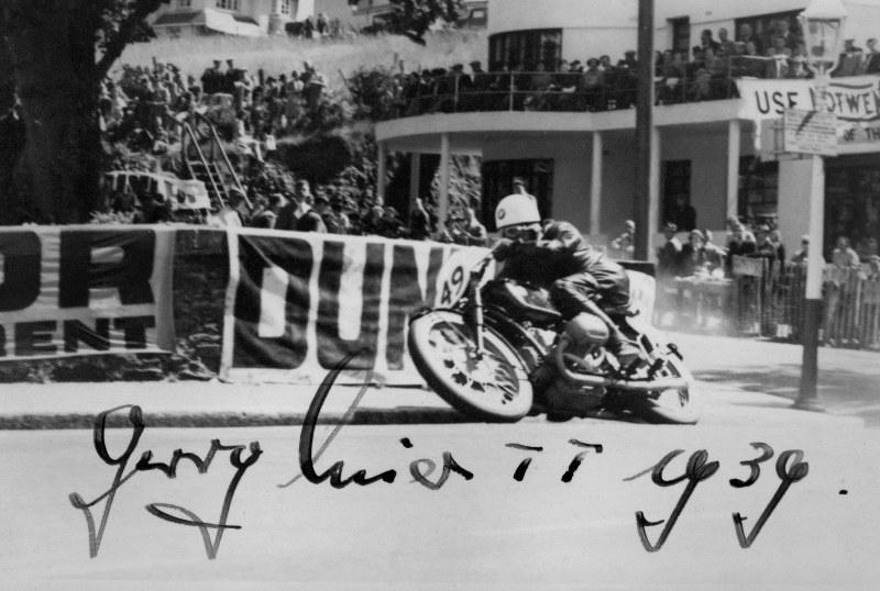 Georg Meier 1939 Isle Of Man Poster German Motorcycle Racer Black White Photo