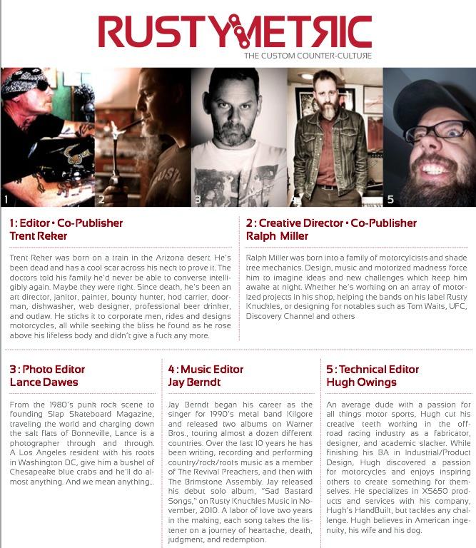 RustyMetric Issue 1 Masthead
