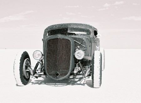 wrecked metals hot rod 450x330 - Hot Rod On The Salt