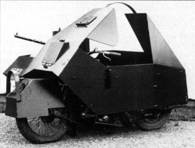 Armored Harley Davidson Motorcycle ww2 Armoured Harley Davidson Motorcycle