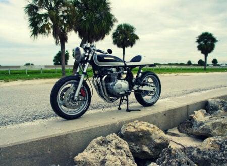Honda CB550 custom motorcycle 450x330 - CB550-FZR600 Hybrid By Steel Bent Customs