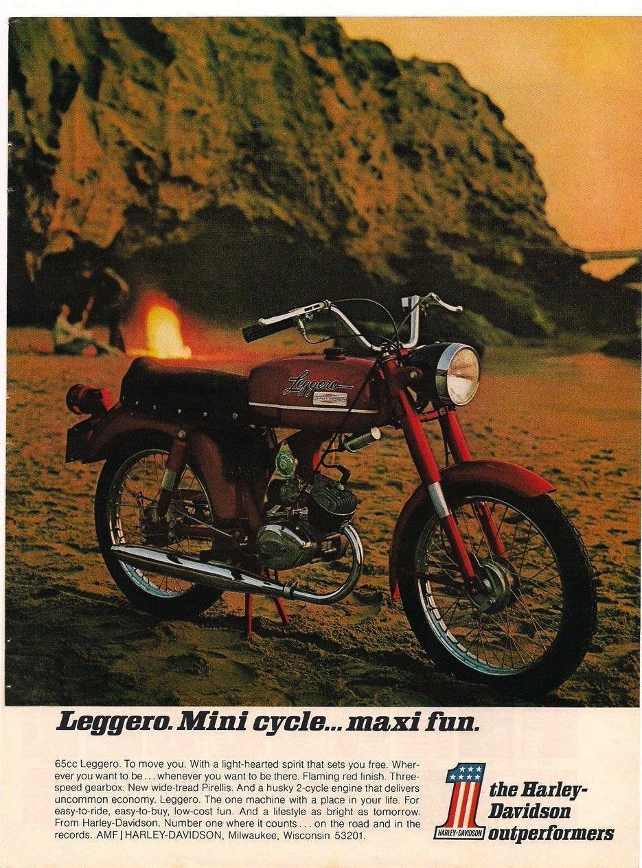 vintage-harley-Leggero Mini Cycle