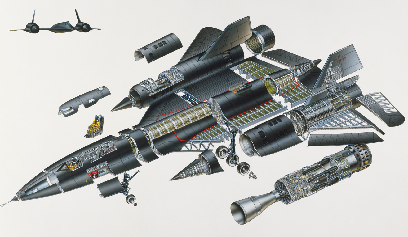 sr 71 jet engine diagram