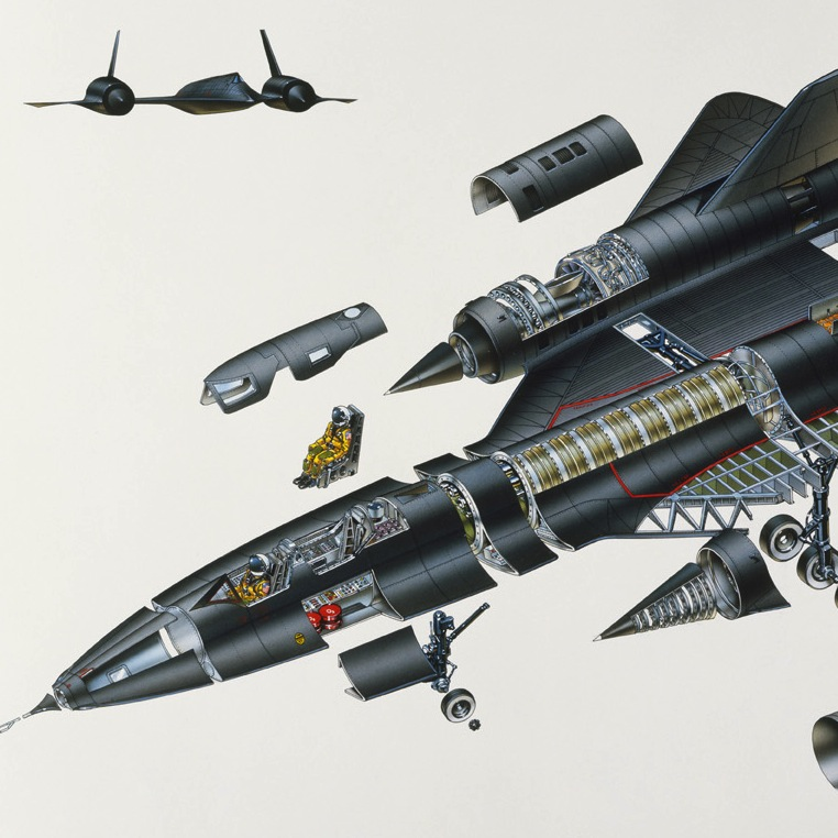 sr 71 blackbird cutaway silodrome. Black Bedroom Furniture Sets. Home Design Ideas