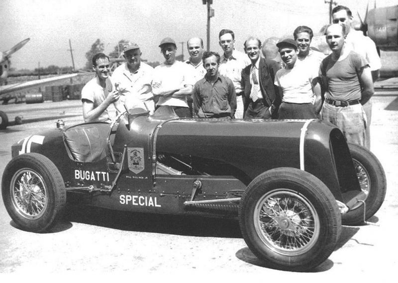 Bill Milliken Tackling The 1947 Pikes Peak Hillclimb Bugatti
