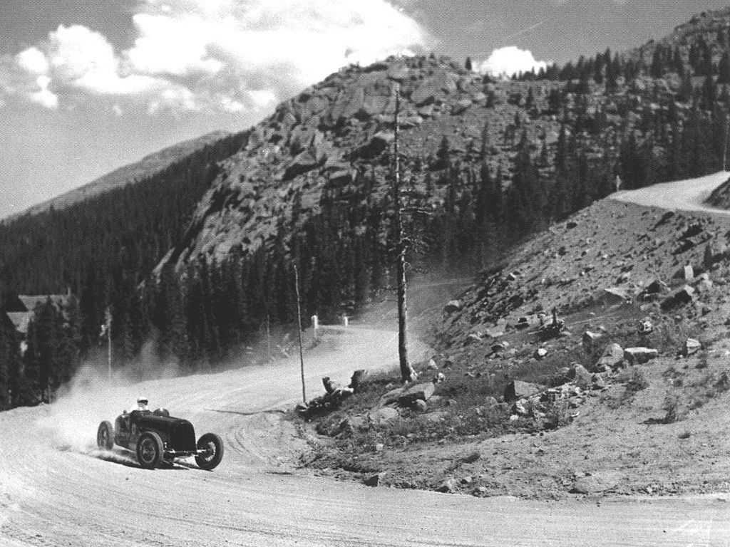 Bill Milliken Tackling The 1947 Pikes Peak Hillclimb
