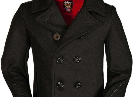Classic Wool Naval Pea Coat1 450x330 - Classic Wool Naval Pea Coat by Schott