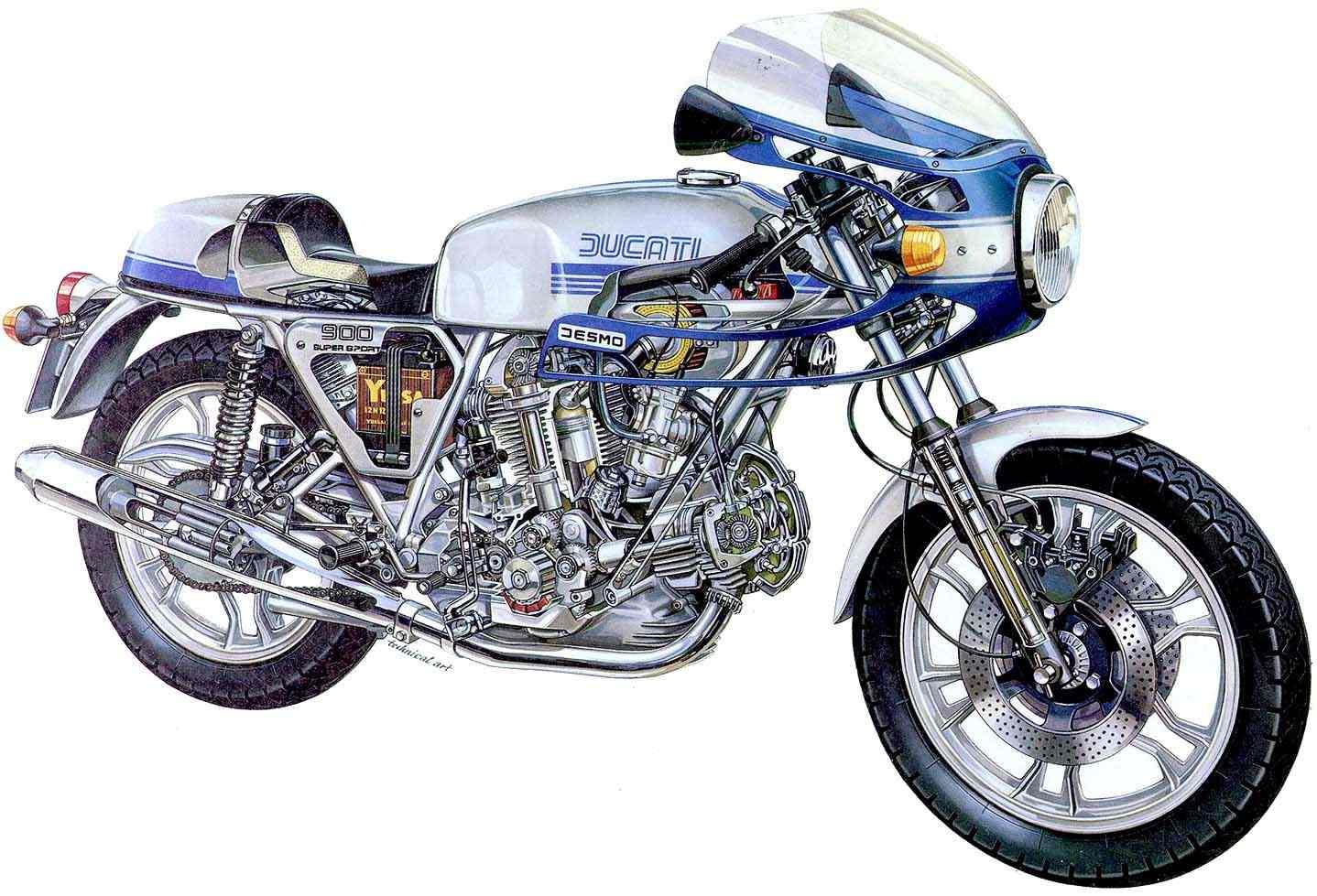 Ducati 900ss Cutaway Ducati 900ss Cutaway