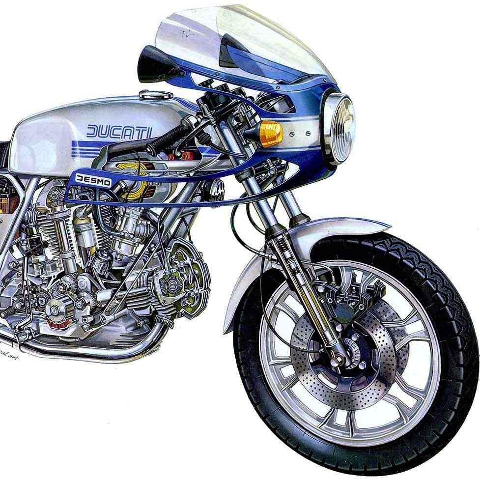 Bmw Year 2000: Ducati 900ss Cutaway Picture