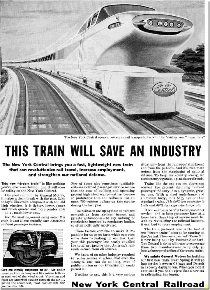 General Motors Aerotrain Ad