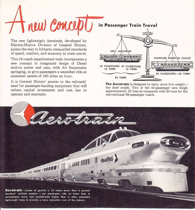 General Motors Aerotrain Brochure