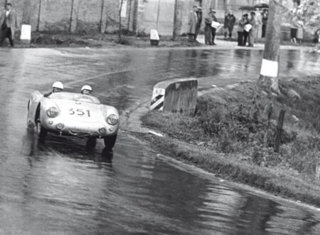 Mille Miglia Spyder 550 Hans Hermann 450x330 - Hans Herrmann, the Porsche 550 Spyder and the Railway Crossing