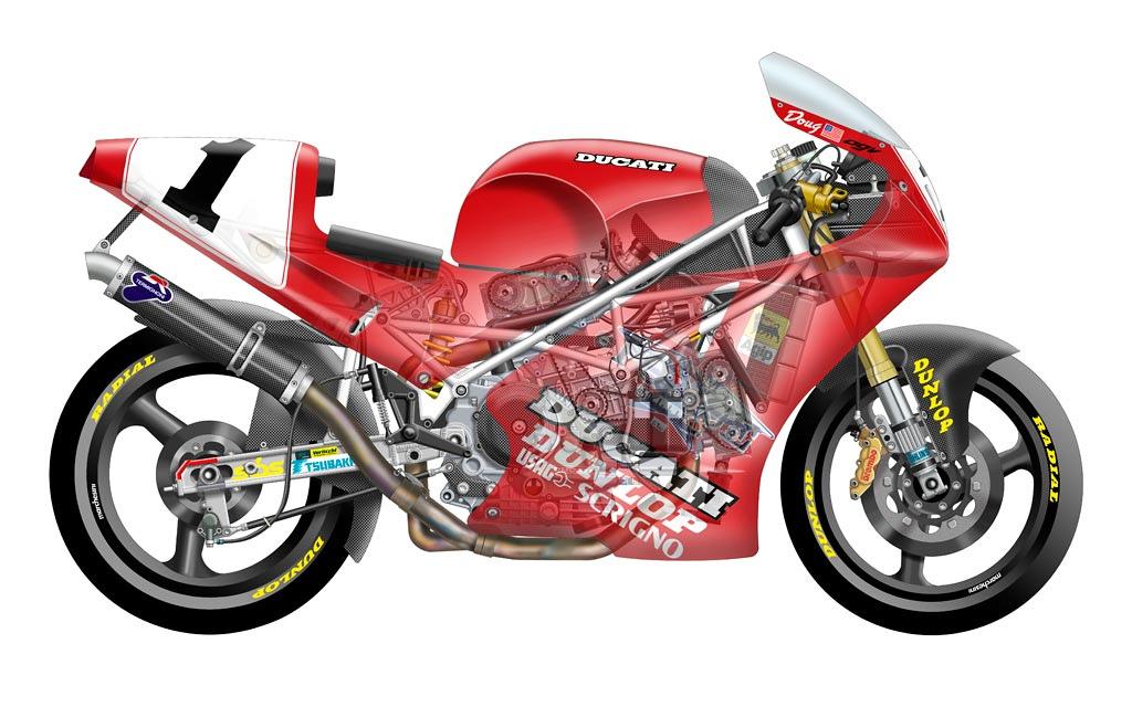 Superbike Cutaways Ducati