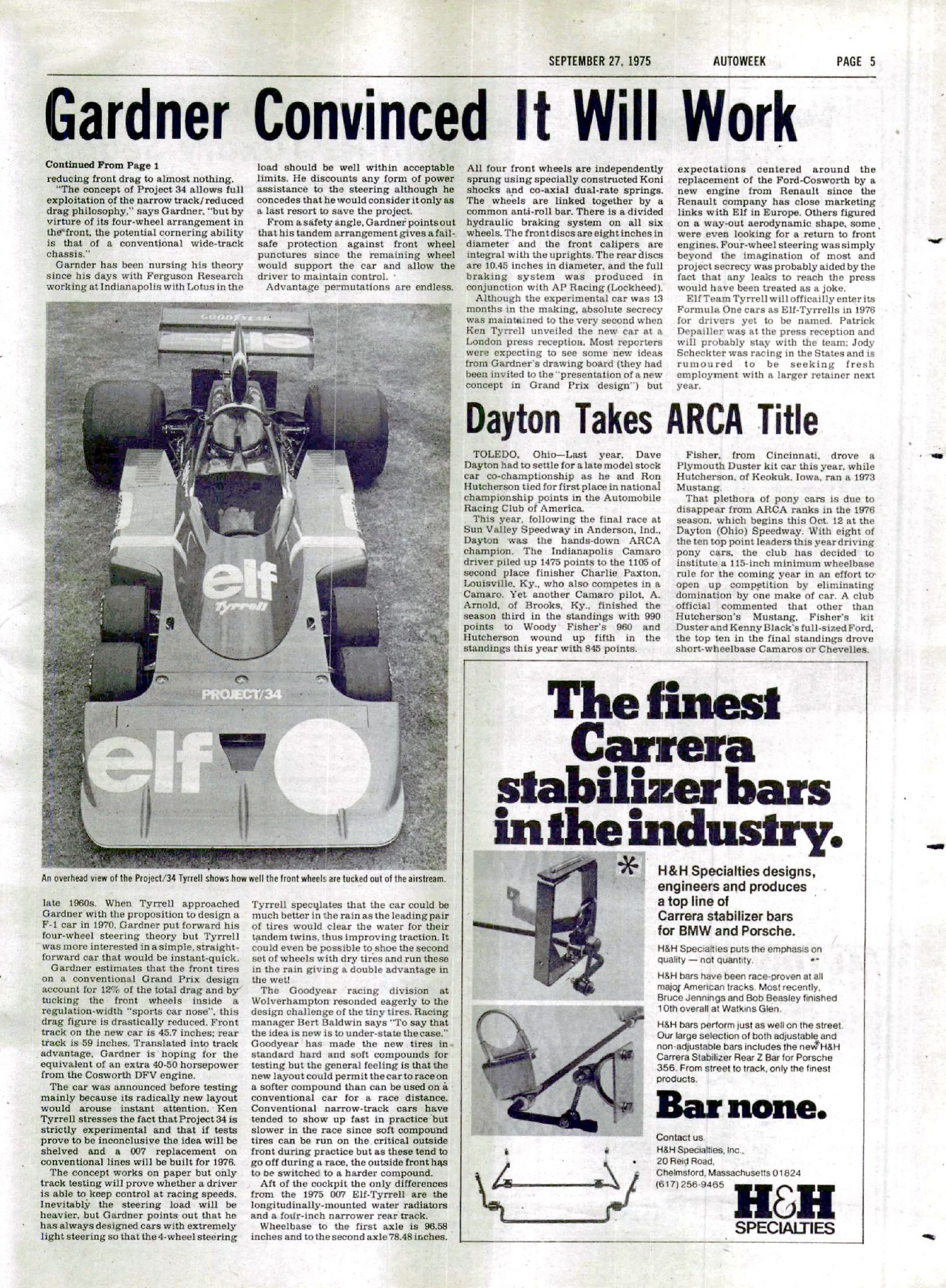 Tyrrell P34 Formula 1