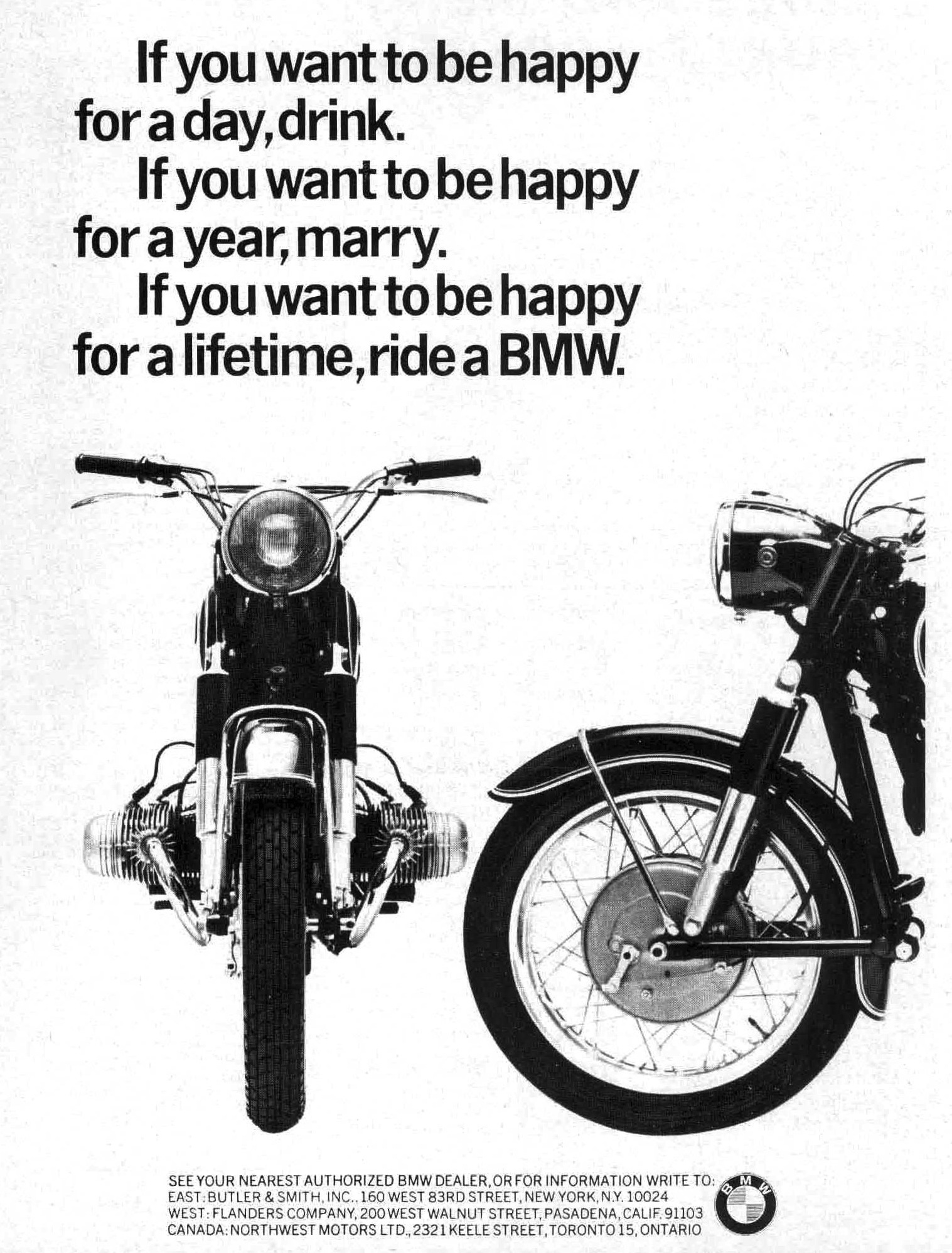 Vintage BMW Advertisement