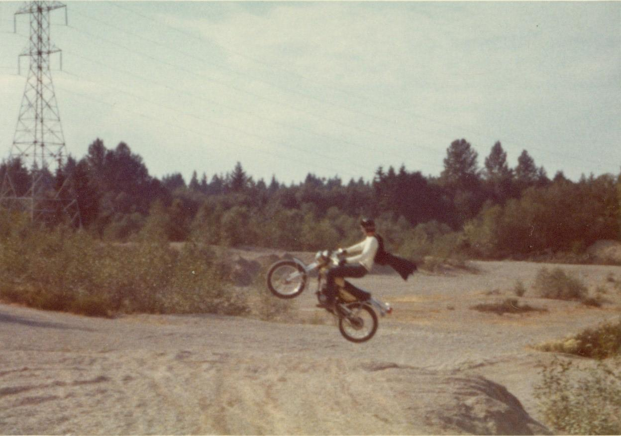 Vintage Motorcycle Jumping