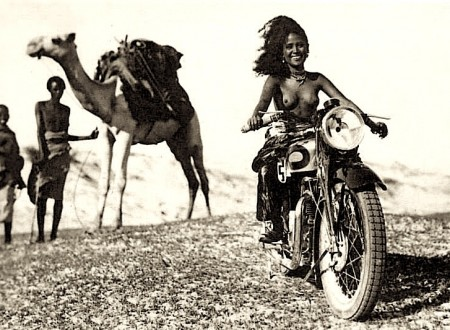 African Girl Motorcycle 450x330 - African Girl on a Motorcycle