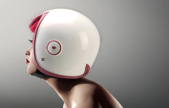 Luxy Vespa Helmet by Daniel Don Chang Motorcycle Luxy Vespa Helmet by Daniel Don Chang