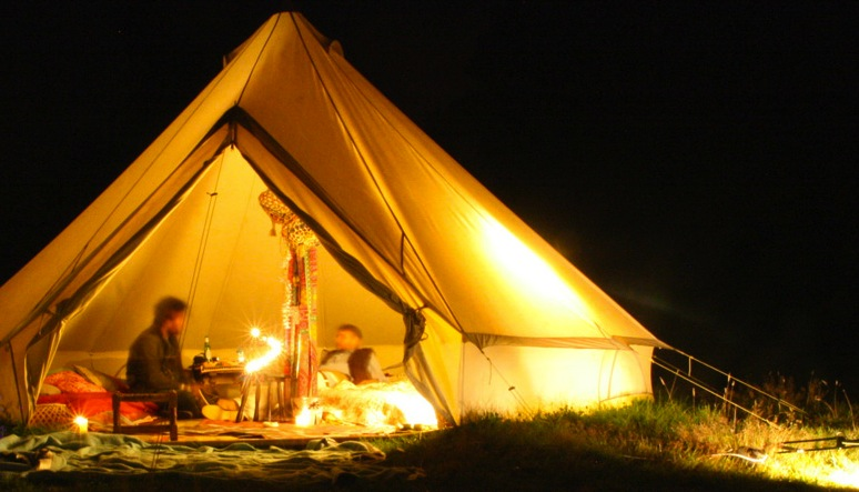 Sandstone Canvas Bell Tent C&ing & Sandstone Canvas Bell Tent - (SILODROME)