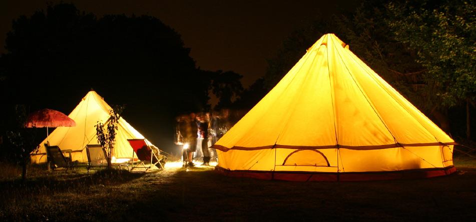 Sandstone Canvas Bell Tent Retro & Sandstone Canvas Bell Tent - (SILODROME)