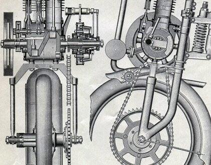il fullxfull.2999728461 421x330 - Motor Wagon Cycle Car Engraving Print - Circa 1909