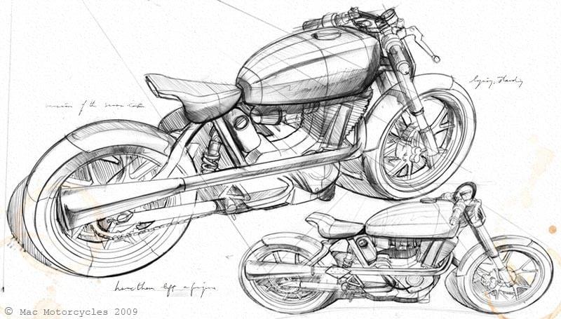 mac motorcycles design Mac Motorcycles First Prototype