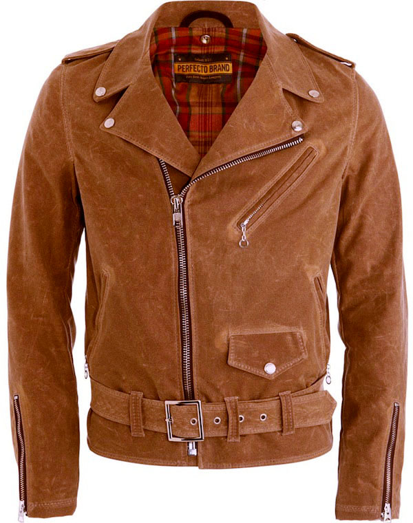 schott perfecto canvas motorcycle jacket NYC