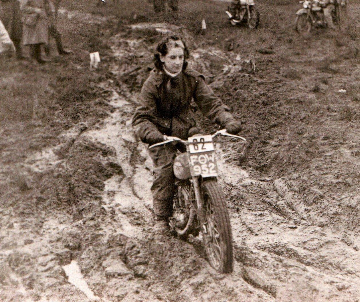 vintage motorcycle hillclimb