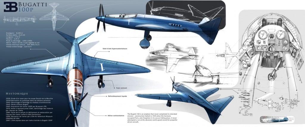 Bugatti 100P Plane